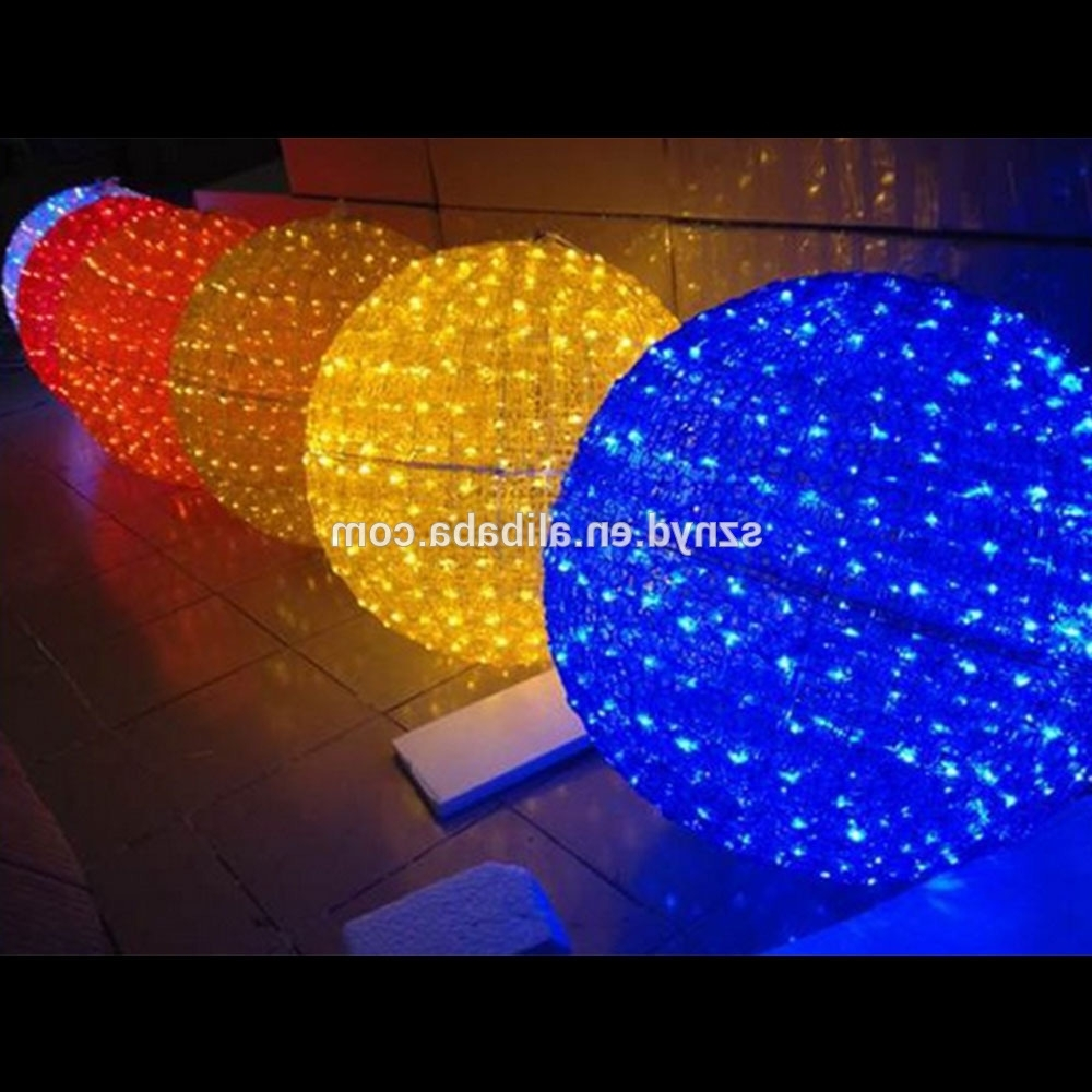 Most Recent Diy : Outdoor Christmas Ball Lights Outdoor Christmas Sphere Lights Inside Outdoor Hanging Sphere Lights (View 7 of 20)
