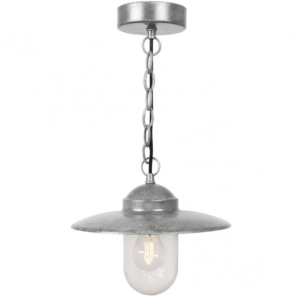 Most Recent Galvanized Outdoor Ceiling Lights Pertaining To Nordlux Luxembourg 72805031 Galvanized Pendant – Nordlux From (View 12 of 20)