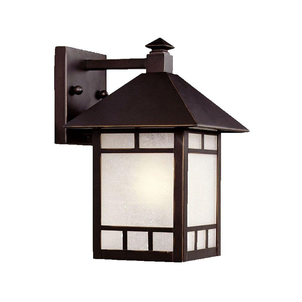 Most Recent Garden Porch Light Fixtures At Home Depot With Regard To Acclaim Lighting Artisan Collection 1 Light Architectural Bronze (View 18 of 20)