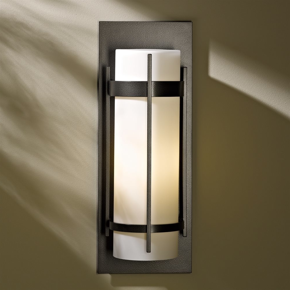 Most Recent Hubbardton Forge 305894 Led Large Banded Led Outdoor Wall Sconce For Commercial Led Outdoor Wall Lighting (View 15 of 20)