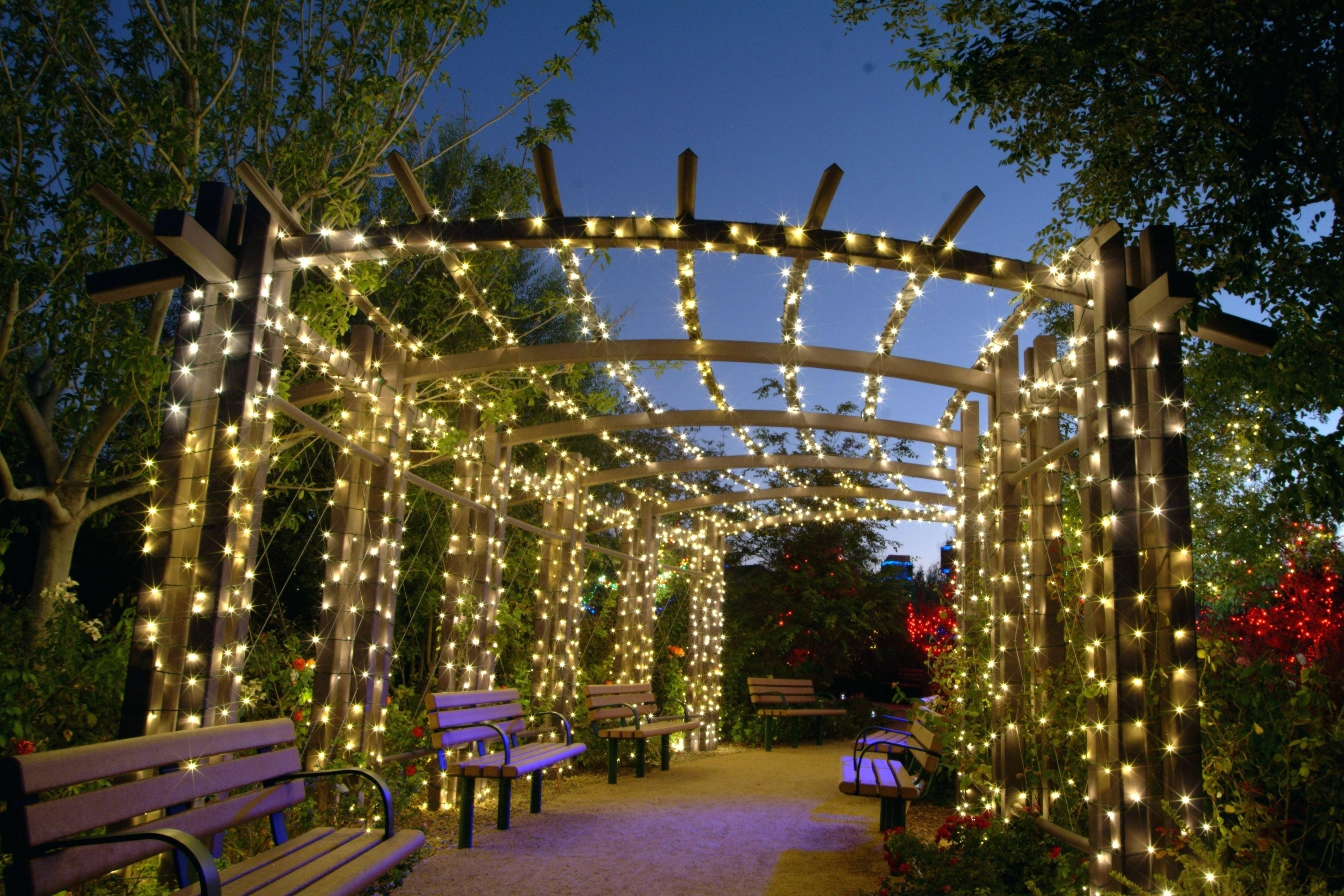 Most Recent Lighting : Decor Of Patio Hanging Lights Lawn Garden Outdoor String Inside Garden And Outdoor String Lights (View 12 of 20)
