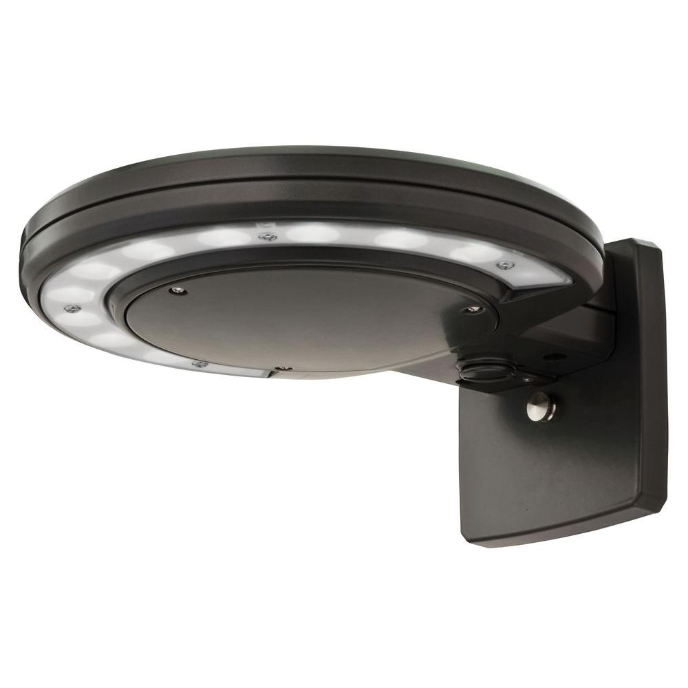 Most Recent Lithonia Lighting Bronze Outdoor Integrated Led 5000K Wall Mount Throughout Dusk To Dawn Led Outdoor Wall Lights (View 17 of 20)