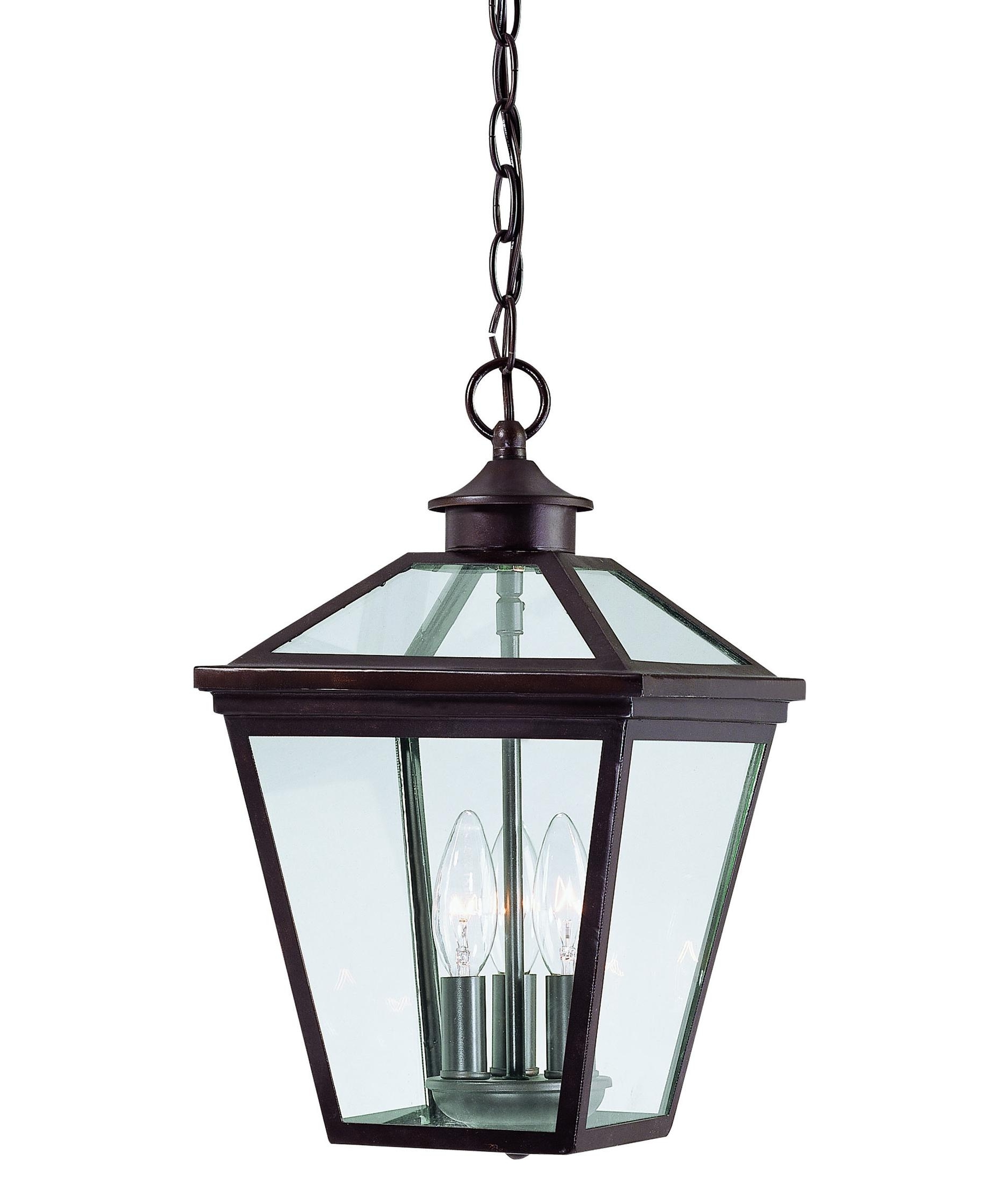Most Recent Outdoor Hanging Glass Lights Within Savoy House 5 146 13 Ellijay 9 Inch Wide 3 Light Outdoor Hanging (View 7 of 20)