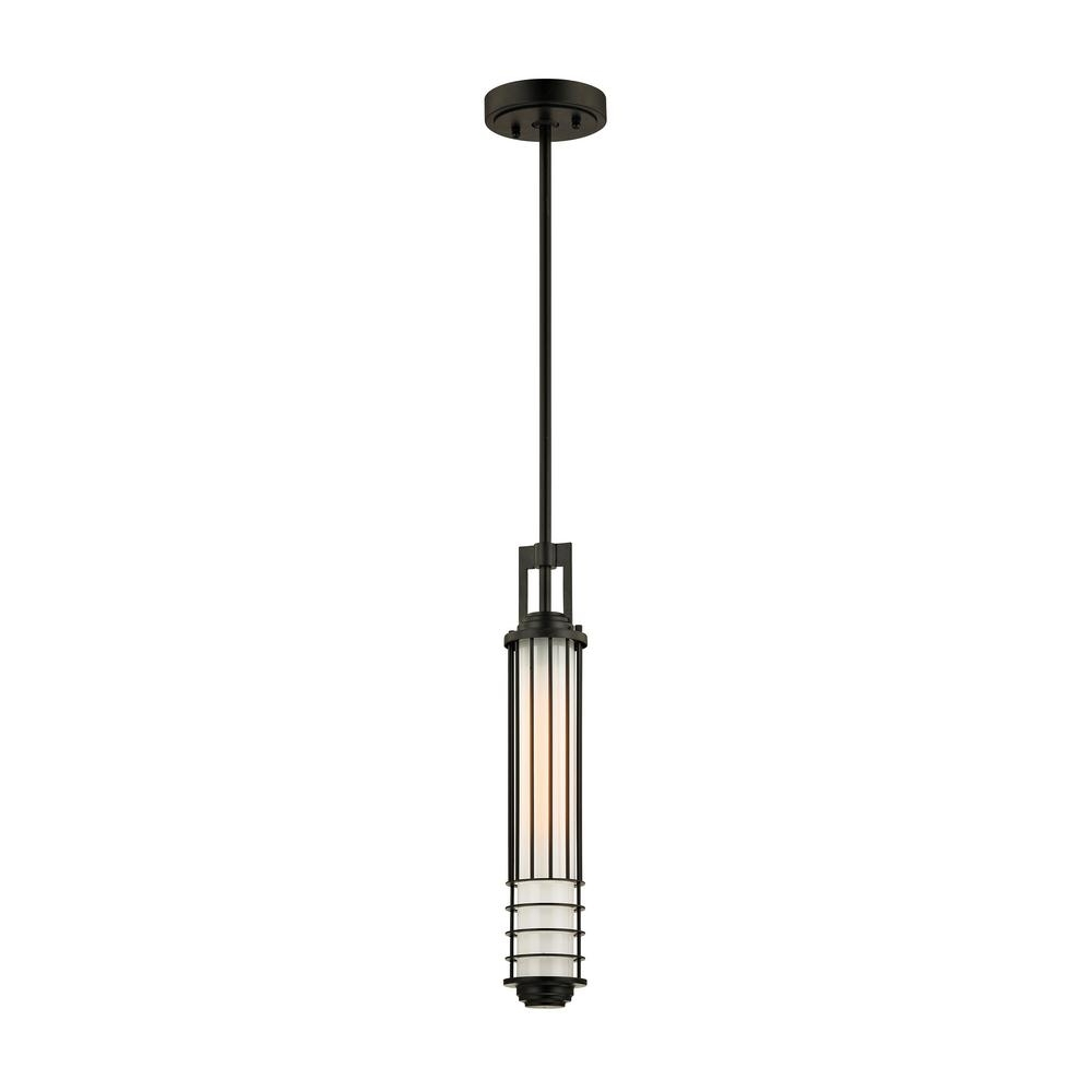 Most Recent Outdoor Hanging Lights Masters With Regard To Troy Lighting Powell Street Bronze 1 Light 5.25 In (View 12 of 20)