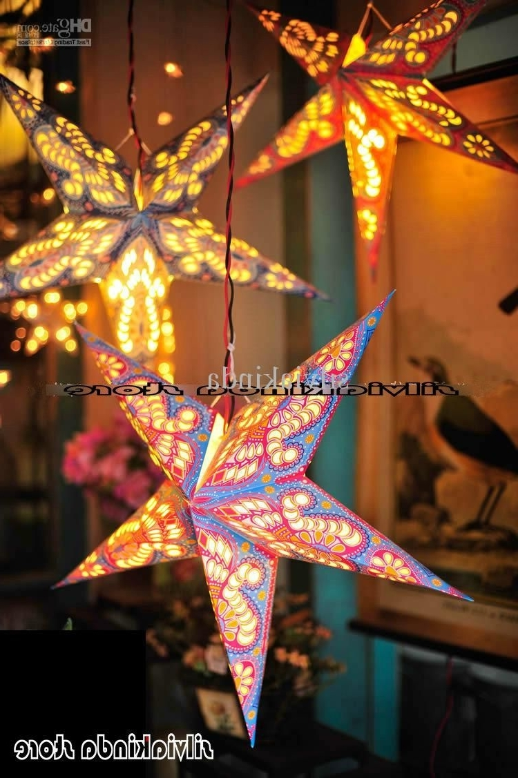 Most Recent Outdoor Hanging Star Lanterns With Regard To Diy : Decorations Outdoor Christmas Lighting Tree Hanging Lantern (View 10 of 20)