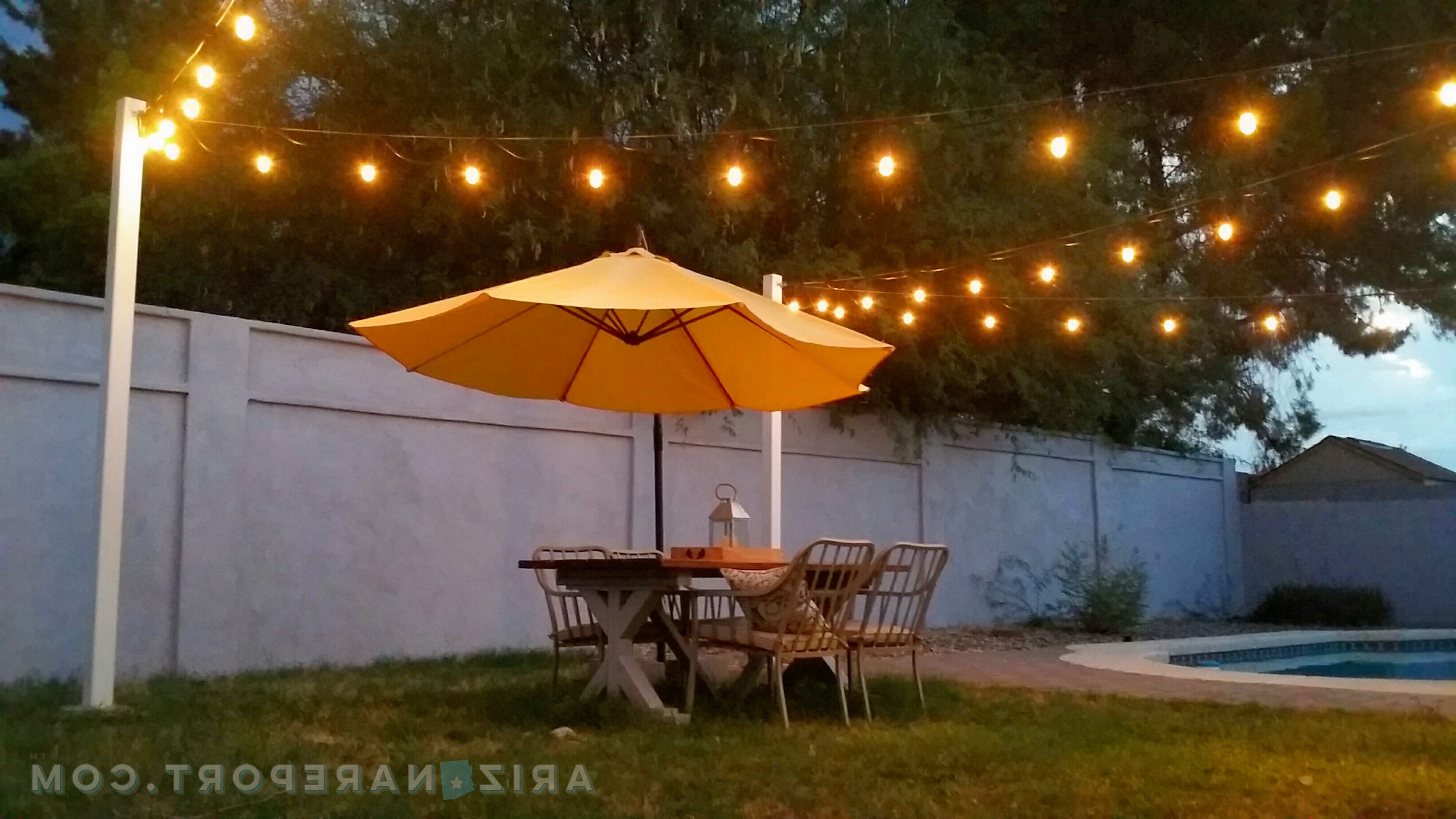 Most Recent Outdoor Hanging String Lanterns Intended For How To Hang String Lights And Cafe Lights (View 15 of 20)