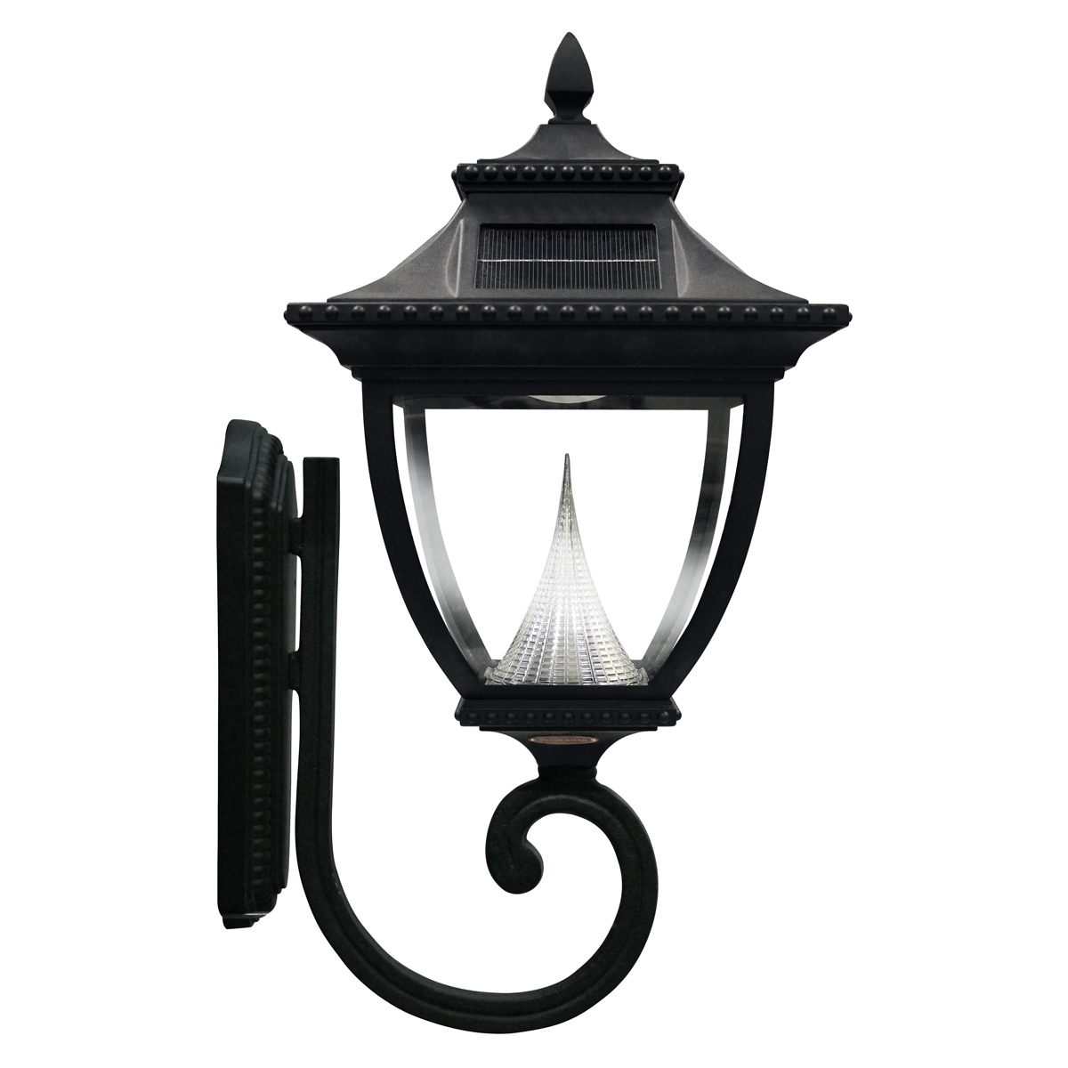 Most Recent Outdoor Wall And Post Lighting For Pagoda Solar Lamp Series – Wall Mount Gs 104W – Gamasonic Solar Lighting (View 9 of 20)