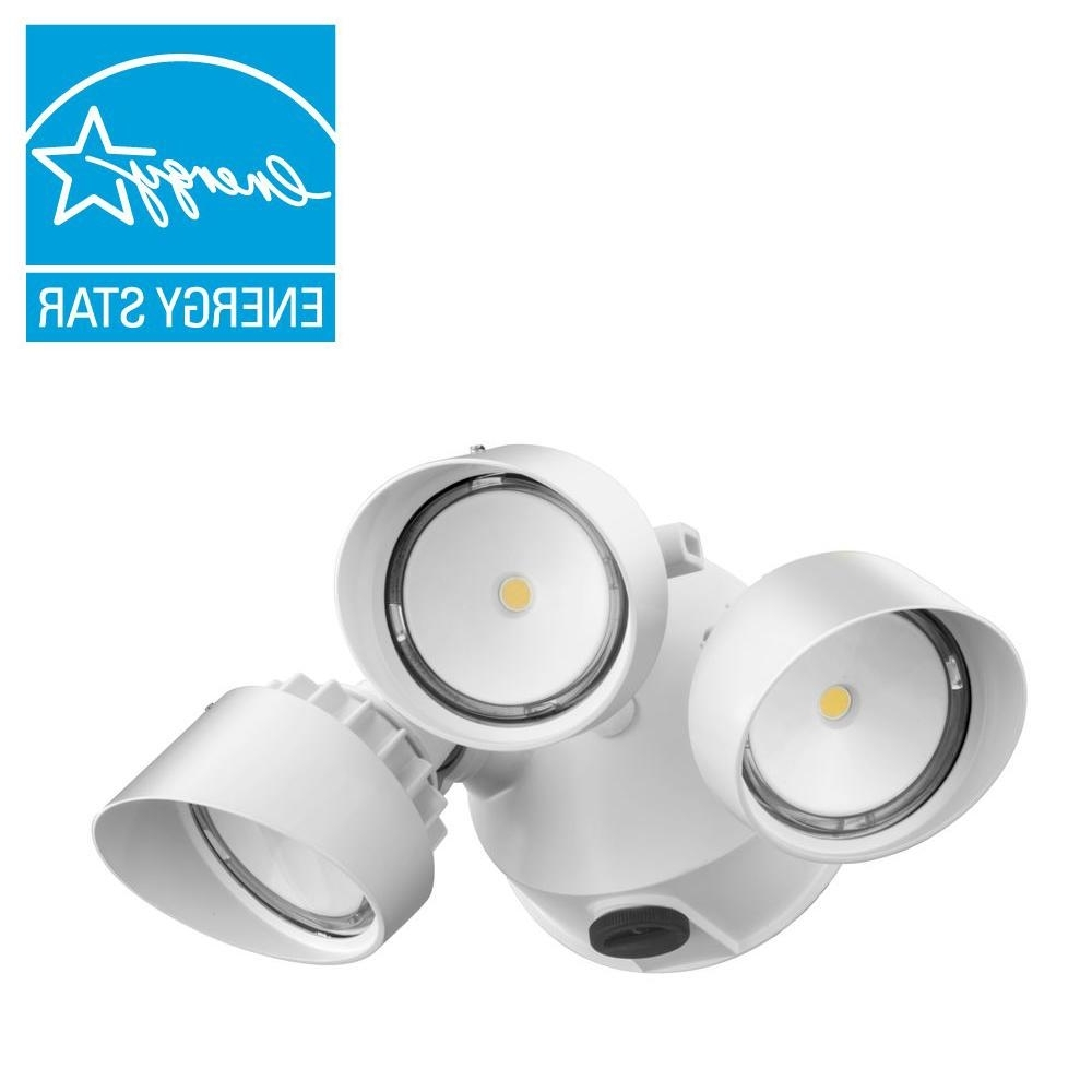Most Recent Outdoor Wall Flood Lights Inside Lithonia Lighting White Outdoor Integrated Led Round Wall Mount (View 6 of 20)