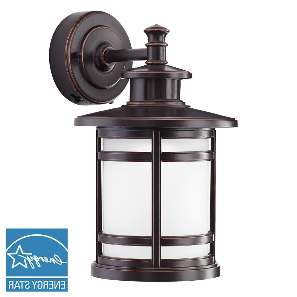 Most Recent Outdoor Wall Light Fixtures With Motion Sensor In Home Decorators Collection Oil Rubbed Bronze Motion Sensor Outdoor (View 11 of 20)