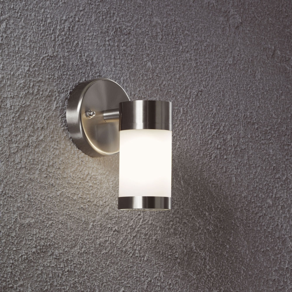 Most Recent Outdoor Wall Mounted Lights Intended For Modern Stainless Steel Led Outdoor Wall Mounted Lighting Ideas With (View 10 of 20)