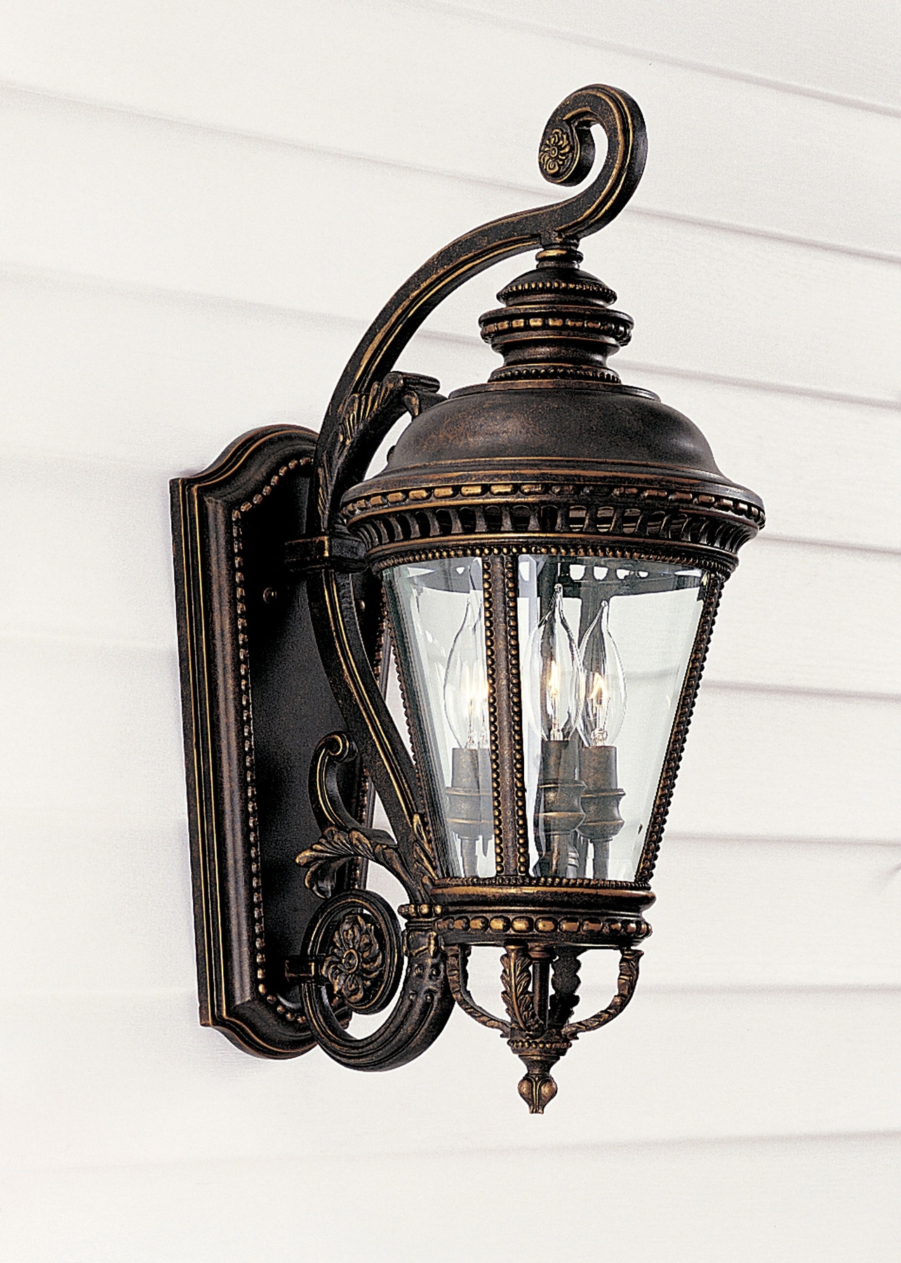 Most Recent Pineapple Outdoor Wall Lights Pertaining To Feiss Ol1901Gbz Castle Outdoor Wall Lantern (View 7 of 20)