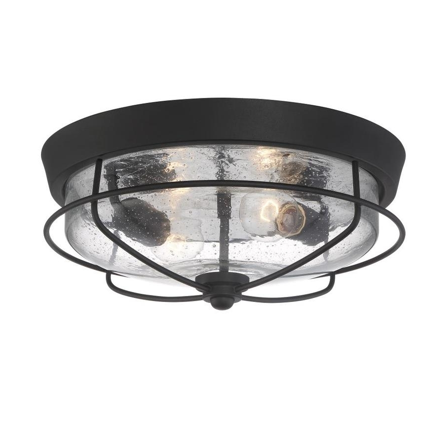 Most Recent Shop Outdoor Flush Mount Lights At Lowes Within Black Outdoor Ceiling Lights (View 10 of 20)