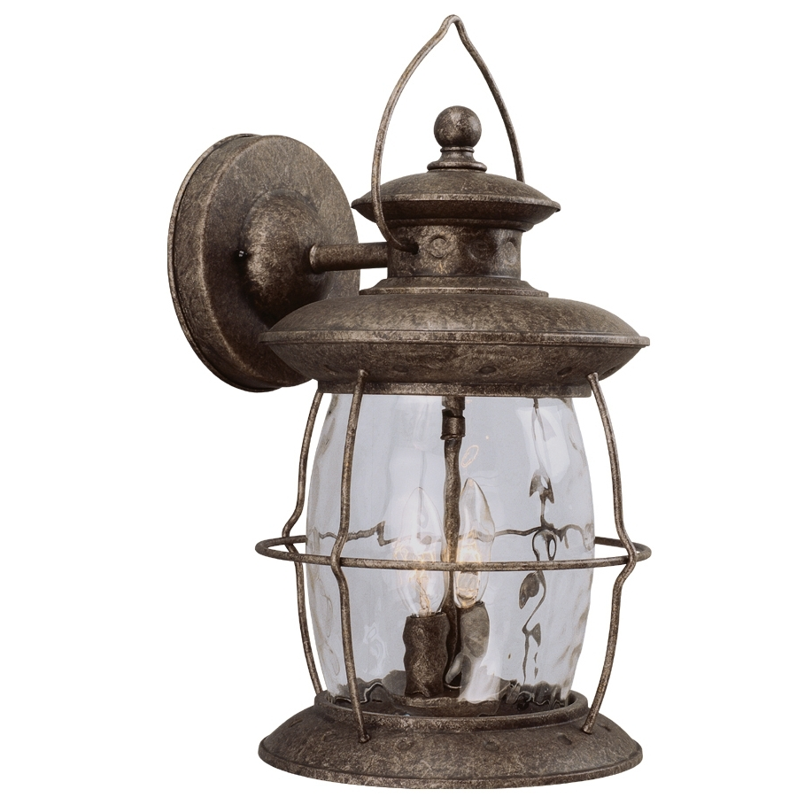 Most Recent Shop Portfolio 16 7/8 In Antique Pewter Outdoor Wall Light At Lowes Pertaining To Pewter Outdoor Wall Lights (View 18 of 20)
