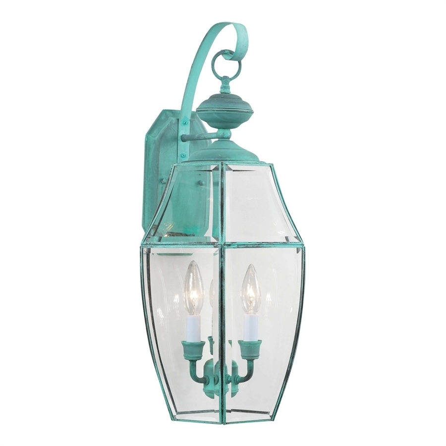 Most Recent Shop Volume International 24 In H Verde Green Outdoor Wall Light At With Green Outdoor Wall Lights (View 14 of 20)