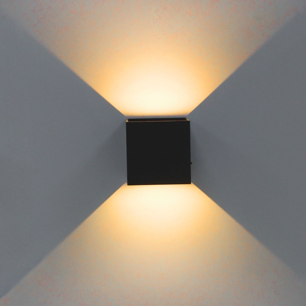 Most Recent Square Outdoor Wall Lights For Sinfull Modern Brief Cube Adjustable Surface Mounted Wall Lamps (View 6 of 20)