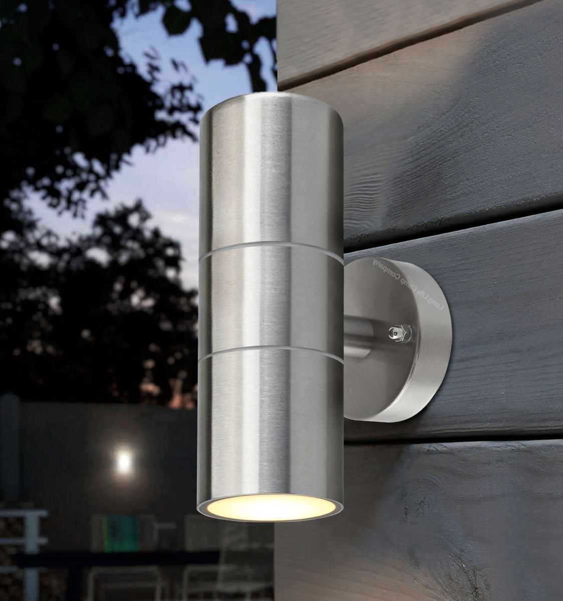 Most Recent Stainless Steel Up Down Wall Light Gu10 Ip65 Double Outdoor Wall In Northern Ireland Outdoor Wall Lights (View 16 of 20)