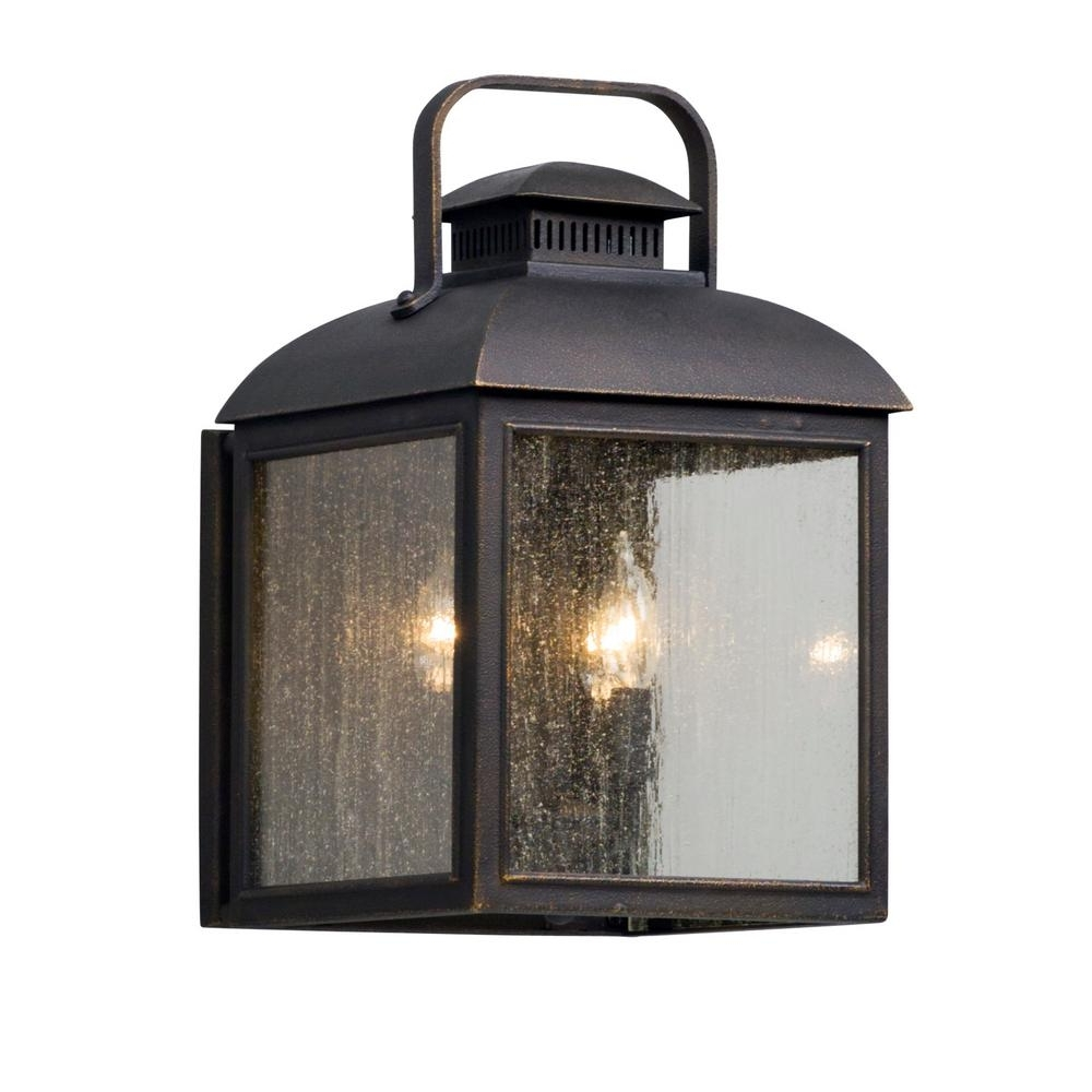 Most Recent Troy Lighting Outdoor Wall Sconces For Troy Lighting Chamberlain 3 Light Vintage Bronze Outdoor Wall Mount (View 7 of 20)