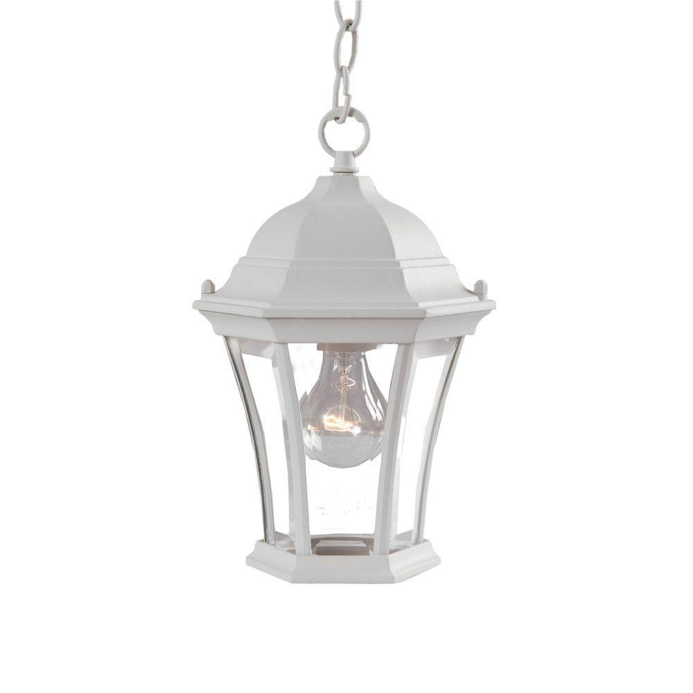 Most Recently Released Acclaim Lighting Brynmawr Collection 1 Light Outdoor Textured White Inside White Outdoor Hanging Lanterns (View 18 of 20)