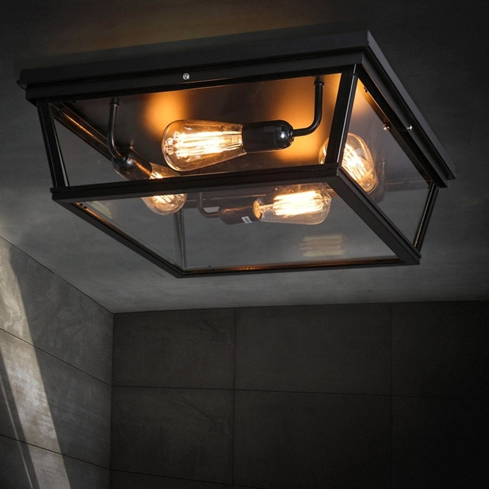 Most Recently Released Black Outdoor Ceiling Lights Throughout Badkamer 1e Verdieping? Loft Square Outdoor Ceiling Lights (View 9 of 20)