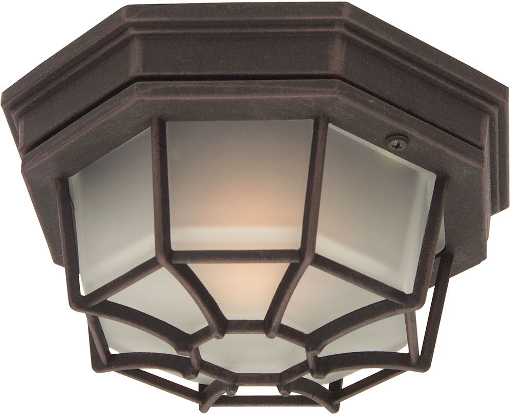 Most Recently Released Craftmade Z390 07 Bulkhead Rust Outdoor Small Overhead Lighting For Outdoor Close To Ceiling Lights (View 10 of 20)