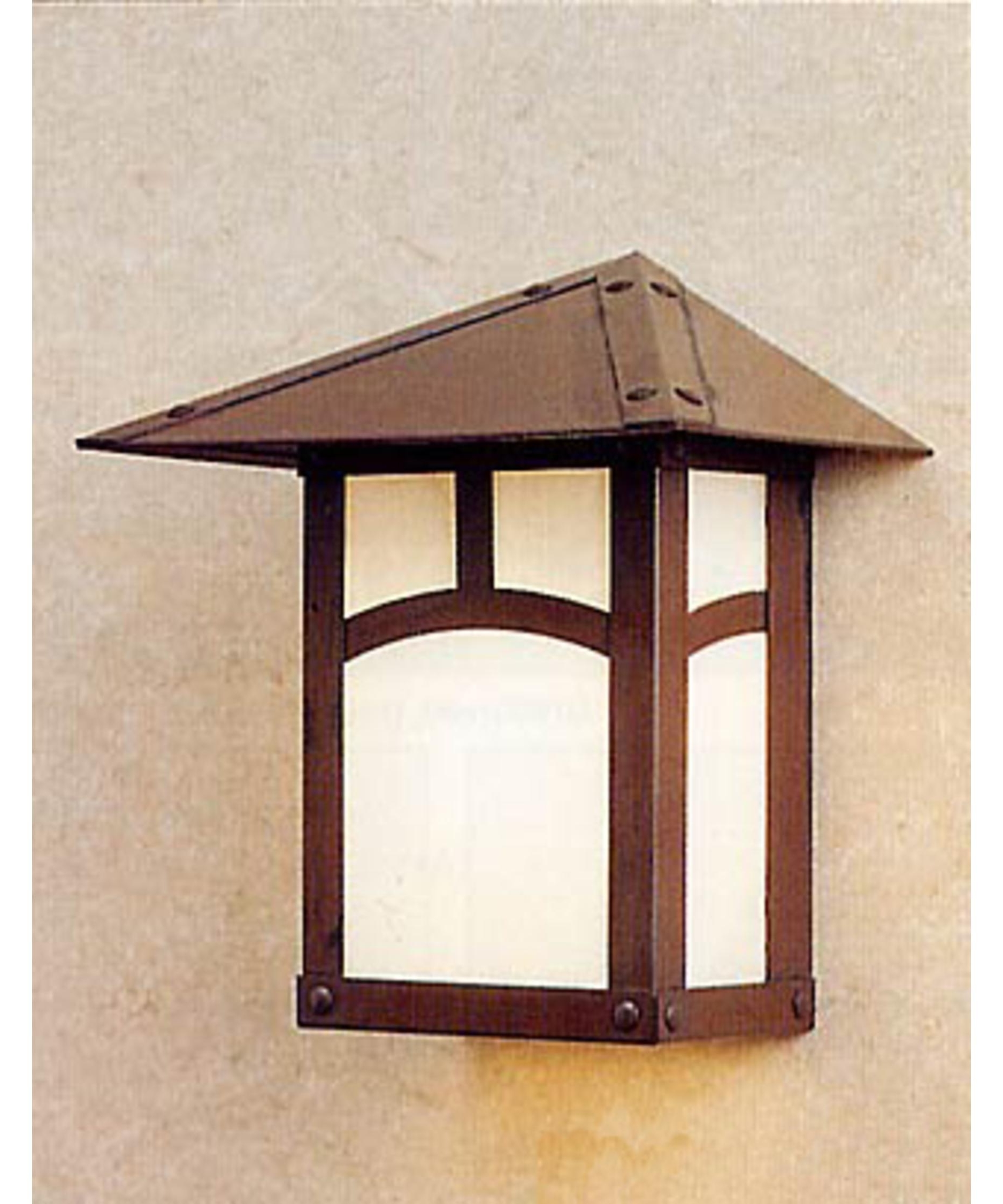 Most Recently Released Craftsman Outdoor Wall Lighting In Arroyo Craftsman Ew 9 Evergreen 9 Inch Wide 1 Light Outdoor Wall (View 16 of 20)