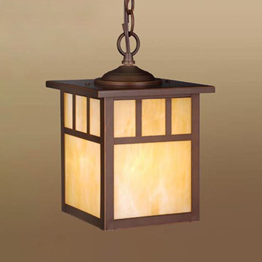 Most Recently Released Craftsman Style Outdoor Ceiling Lights In Shop Cascadia Lighting Mission 11 In Burnished Bronze Hardwired (View 15 of 20)