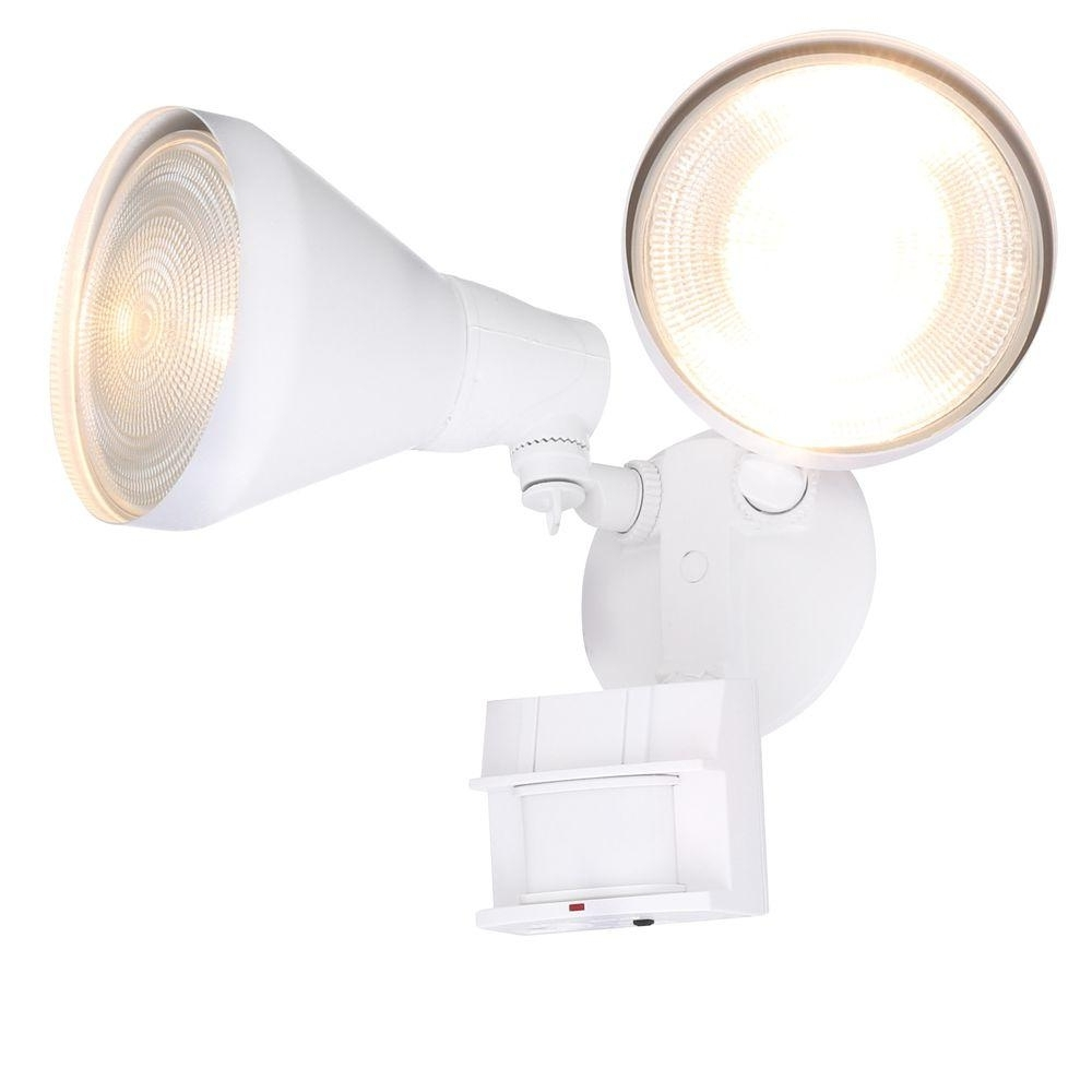 Most Recently Released Defiant 180 Degree White Motion Activated Outdoor Flood Light Dfi With Regard To Hanging Outdoor Security Lights (View 11 of 20)