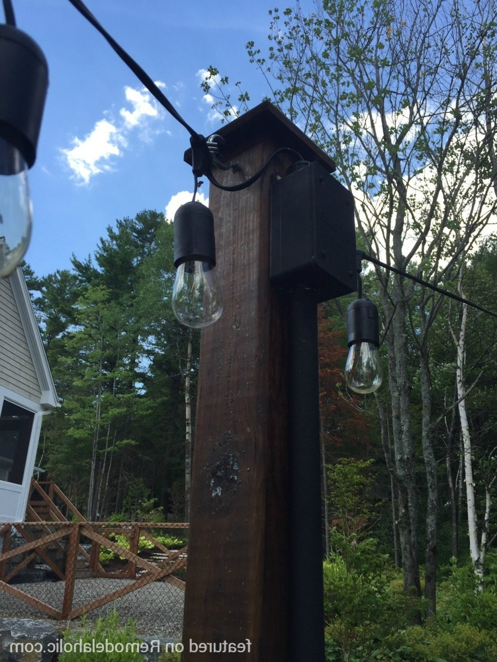 Most Recently Released Diy : Easy Diy Outdoor Lighting Around Fire Pit How Hang String With Hanging Outdoor Lights Without Trees (View 16 of 20)