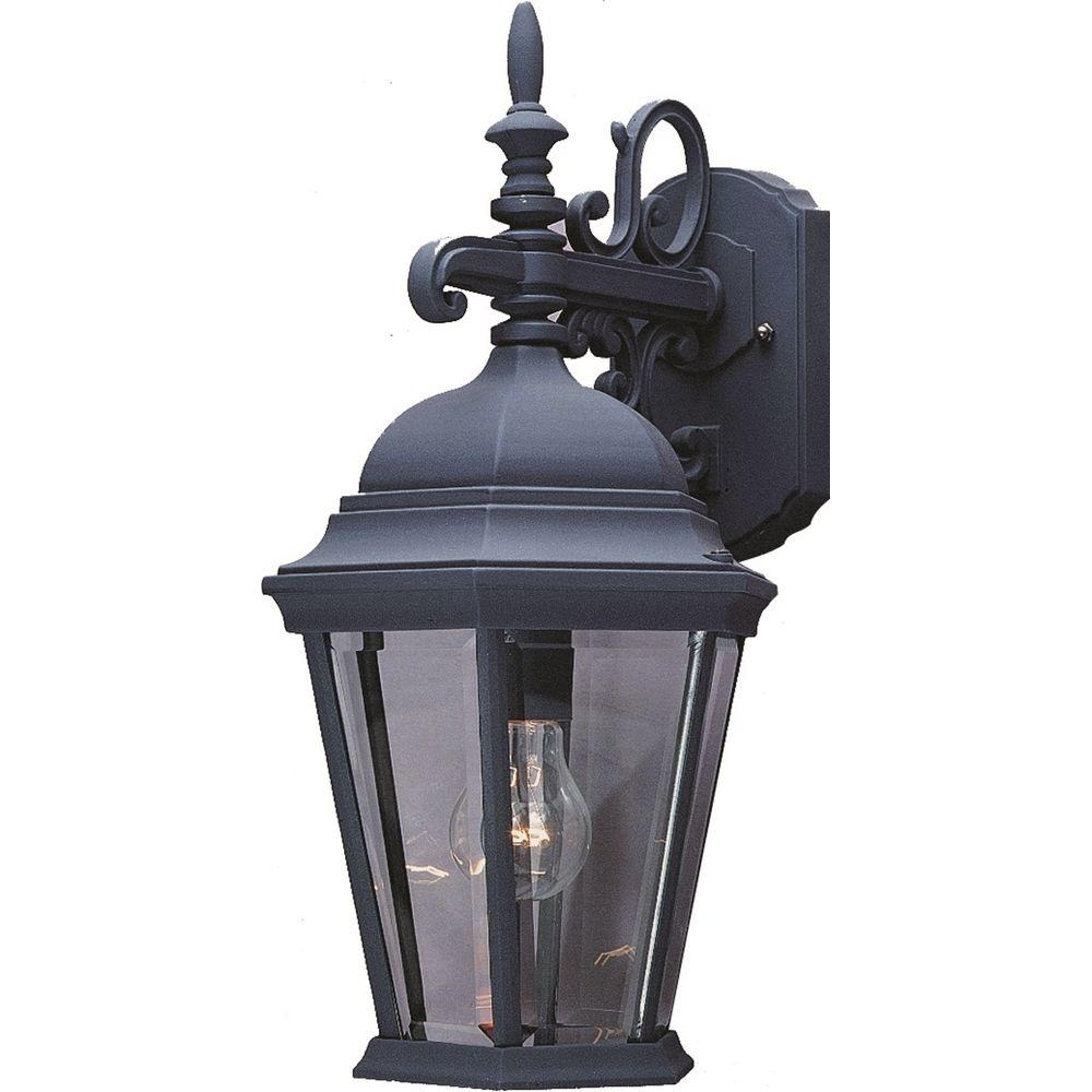 Most Recently Released European Outdoor Wall Lighting Inside Volume Lighting 1 Light Black Outdoor Wall Sconce V8230 5 – The Home (View 3 of 20)