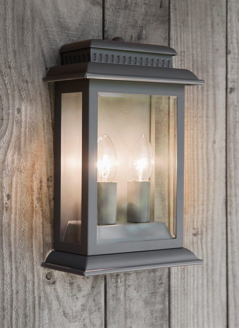 Most Recently Released Grey Outdoor Wall Lights Pertaining To Belvedere Light In Charcoal – Steel (View 11 of 20)