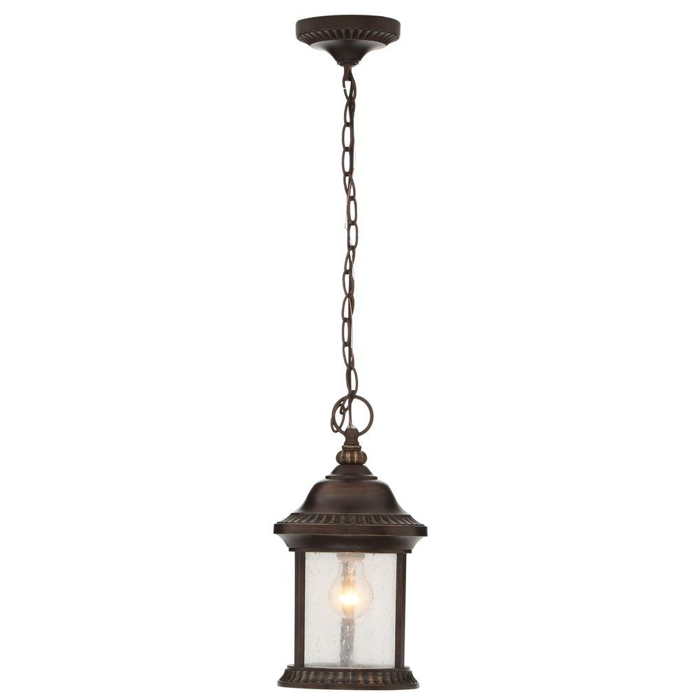 Most Recently Released Home Decorators Collection Cambridge Essex Bronze Outdoor Hanging With Regard To Electric Outdoor Hanging Lanterns (View 18 of 20)
