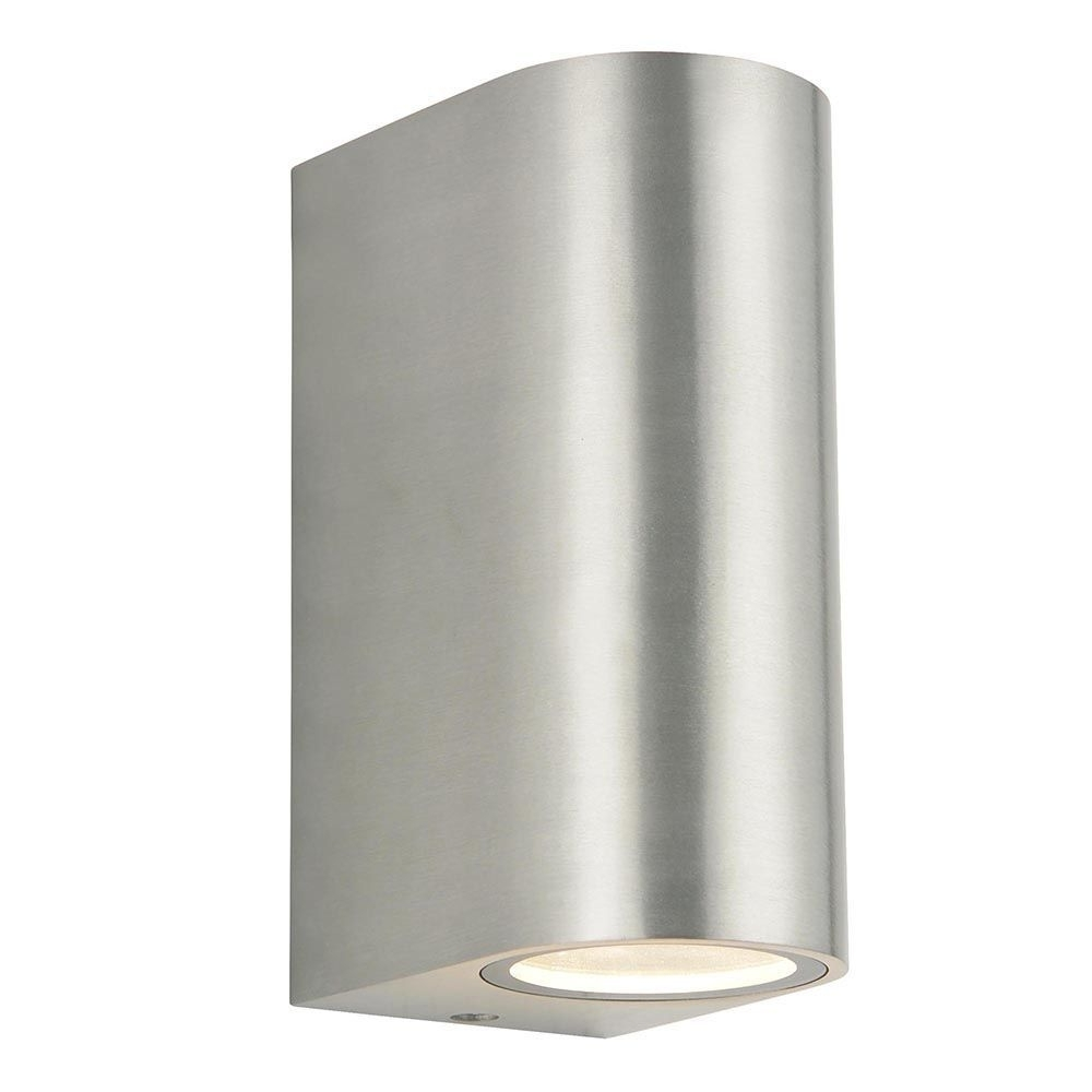 Most Recently Released Irwell 2 Light Up And Down Outdoor Wall Light – Stainless Steel From With Regard To Stainless Steel Outdoor Wall Lights (View 11 of 20)