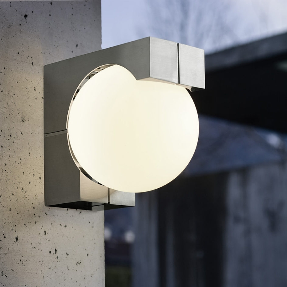 Most Recently Released Lighting Ideas: Stainless Steel Outdoor Wall Sconces With Globe In Globe Outdoor Wall Lighting (View 13 of 20)