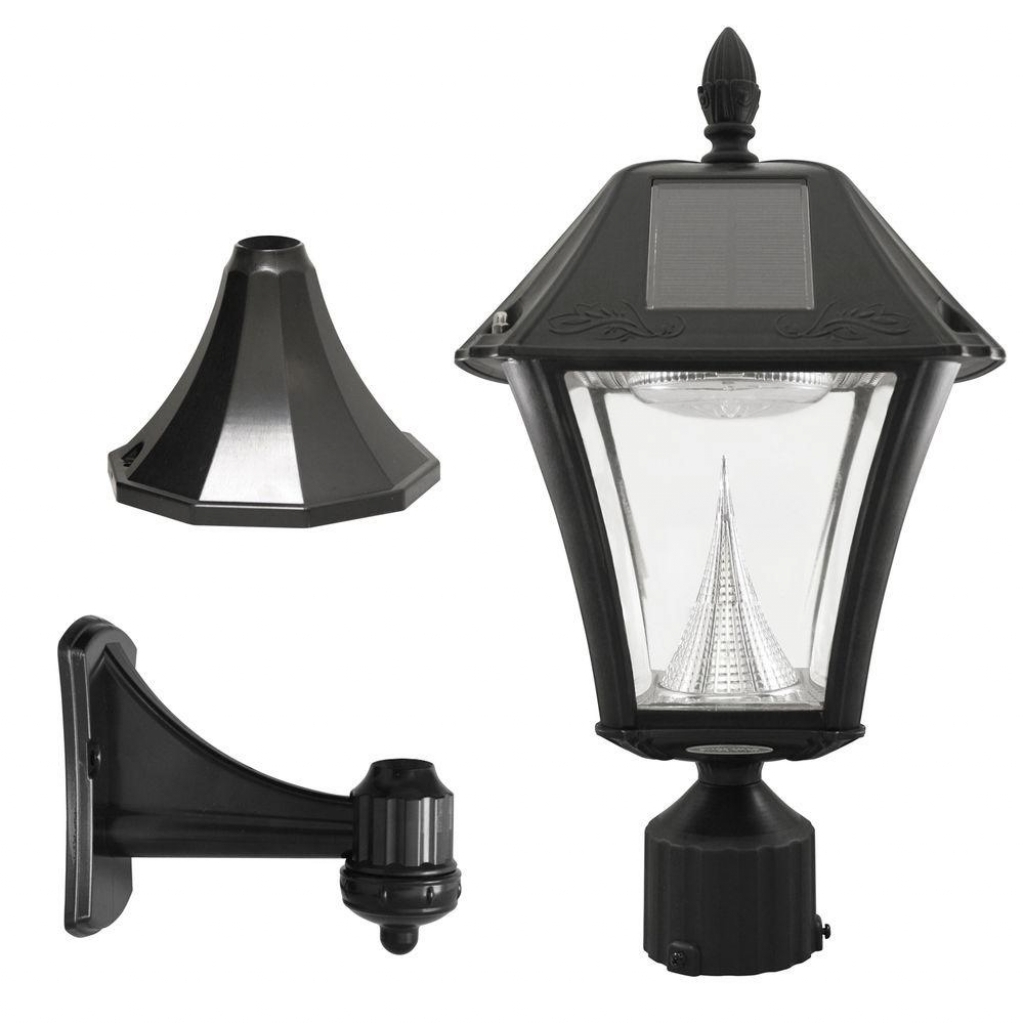 Most Recently Released Low Voltage Led Post Lights Within Furniture : Solar Lamp Light Post Lighting Outdoor The Home Depot (View 14 of 20)
