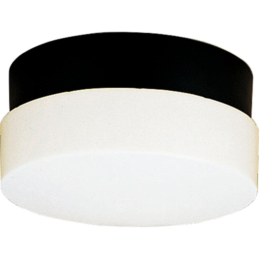 Most Recently Released Modern Outdoor Light Fixtures At Home Depot Pertaining To Progress Lighting Hard Nox Collection 2 Light Outdoor Black Wall (View 13 of 20)