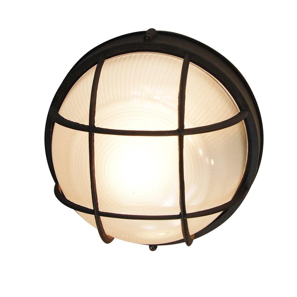 Most Recently Released Outdoor Ceiling Bulkhead Lights Inside Bel Air Lighting Bulkhead 1 Light Outdoor Black Wall Or Ceiling (View 10 of 20)