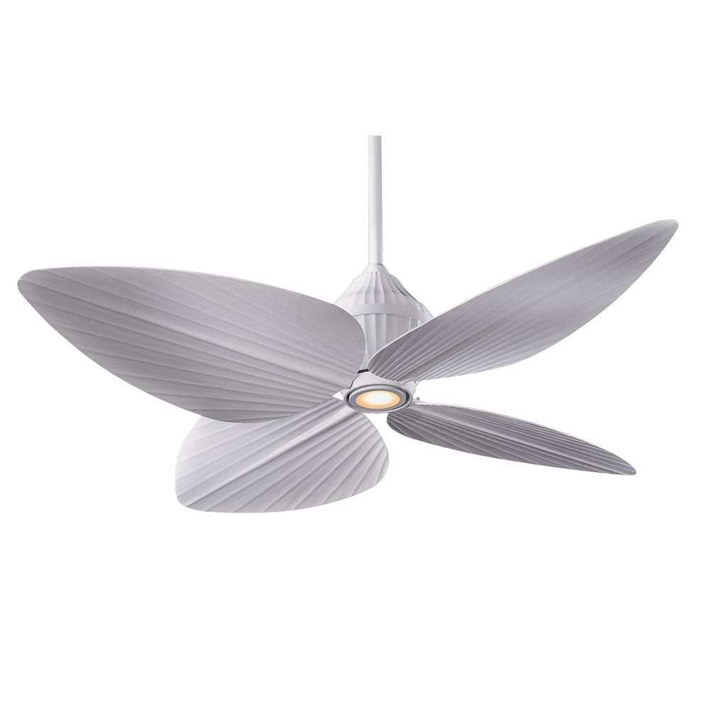 Most Recently Released Outdoor Ceiling Fans With Tropical Lights Intended For F581 Whf Minka Aire Gauguin Ceiling Fan – Flat White – Bahama Style (View 13 of 20)
