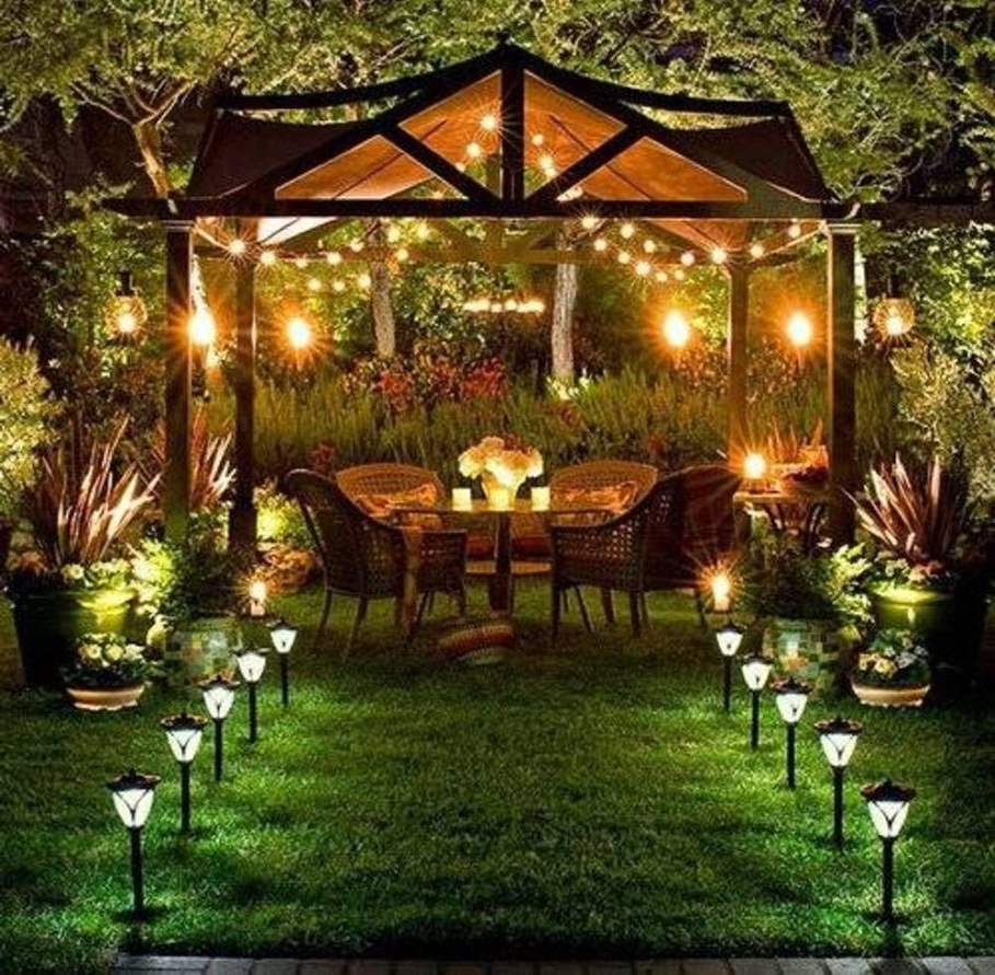 Most Recently Released Outdoor Hanging Gazebo Lights For Marvellous Lowes Outside Lighting Outdoor Solar Lighting Outdoor (View 8 of 20)