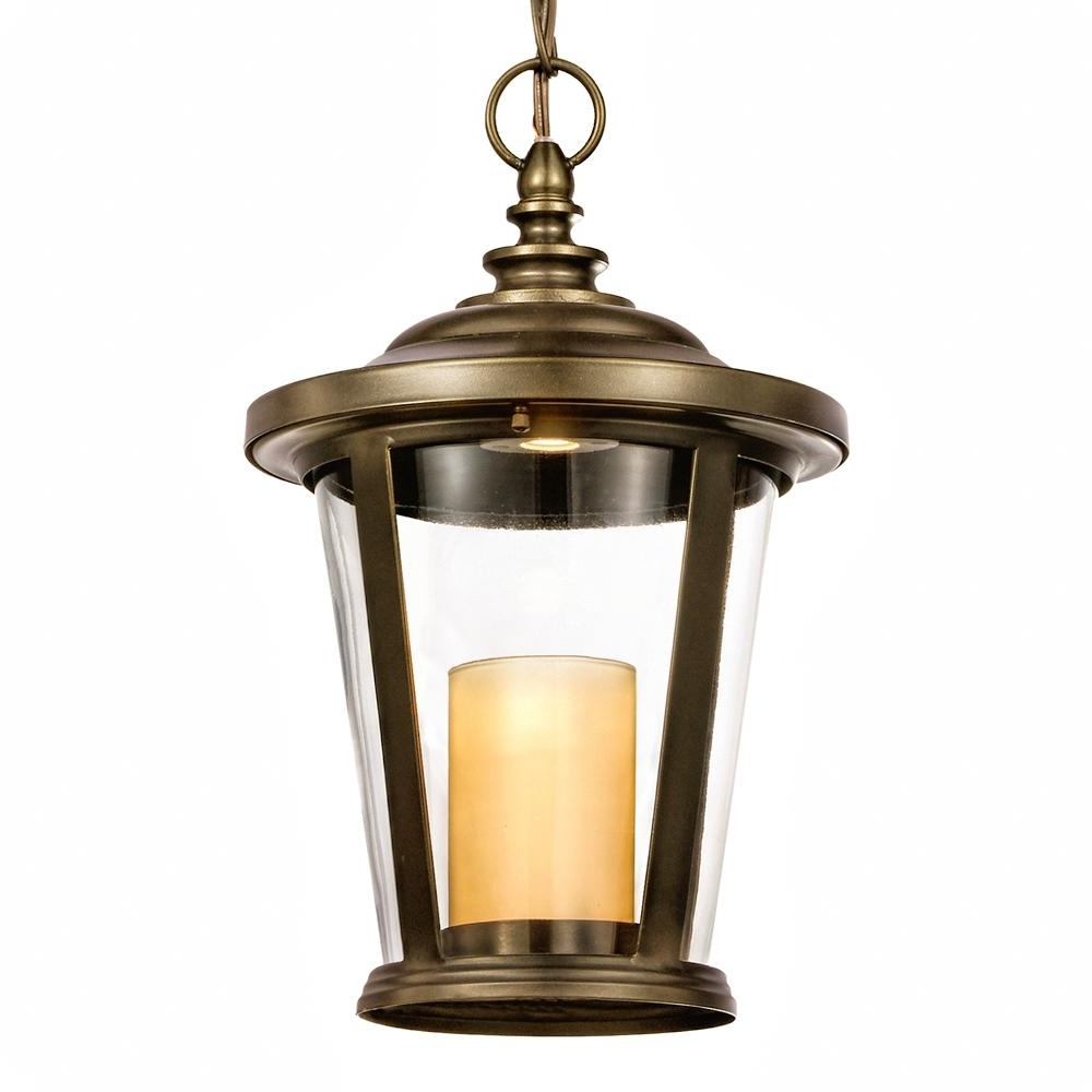 Most Recently Released Outdoor Hanging Lanterns With Candles For Home Decorators Collection Bellingham Oil Rubbed Bronze Outdoor Led (View 7 of 20)
