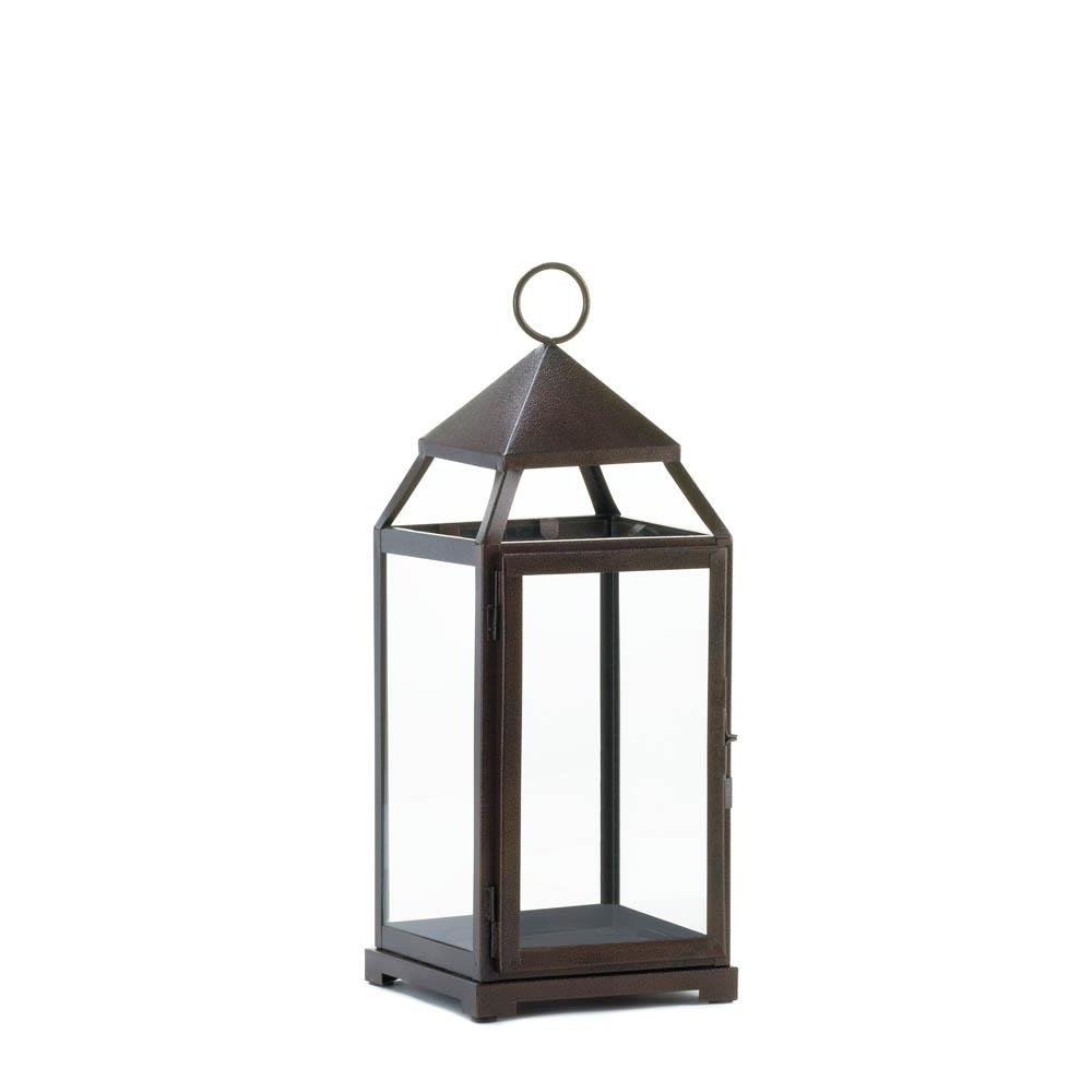 Most Recently Released Outdoor Hanging Metal Lanterns Inside Metal Lantern, Large Contemporary Hanging Decorative Floor Patio (View 17 of 20)