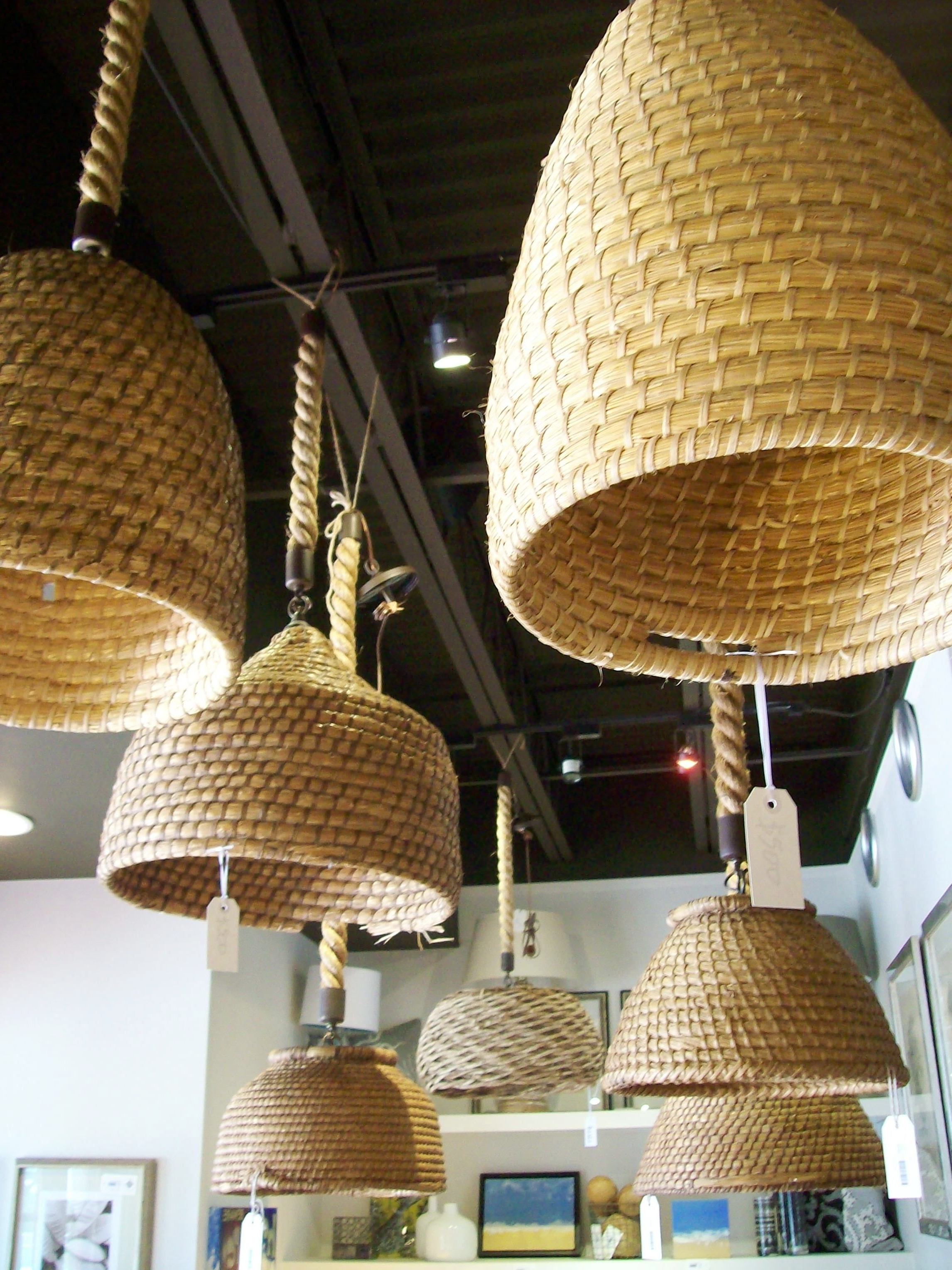 Most Recently Released Outdoor Hanging Wicker Lights In A Tisket, A Tasket, A Pretty Little Basket (View 9 of 20)
