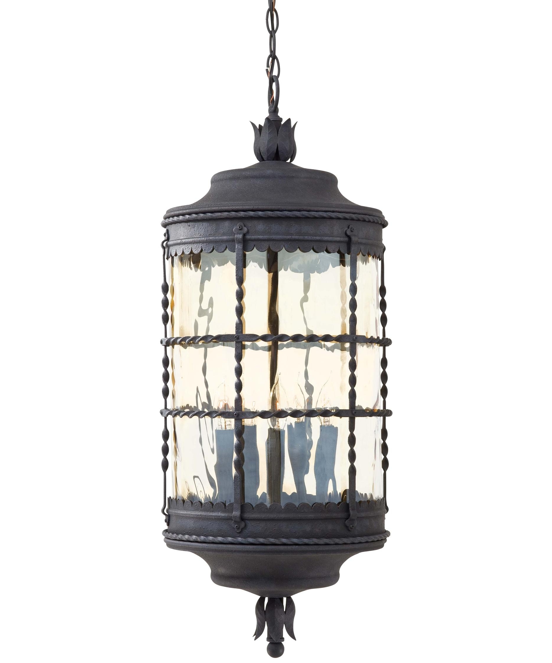 Most Recently Released Outdoor Iron Hanging Lights With Regard To Minka Lavery 8884 Mallorca 13 Inch Wide 5 Light Outdoor Hanging (View 16 of 20)