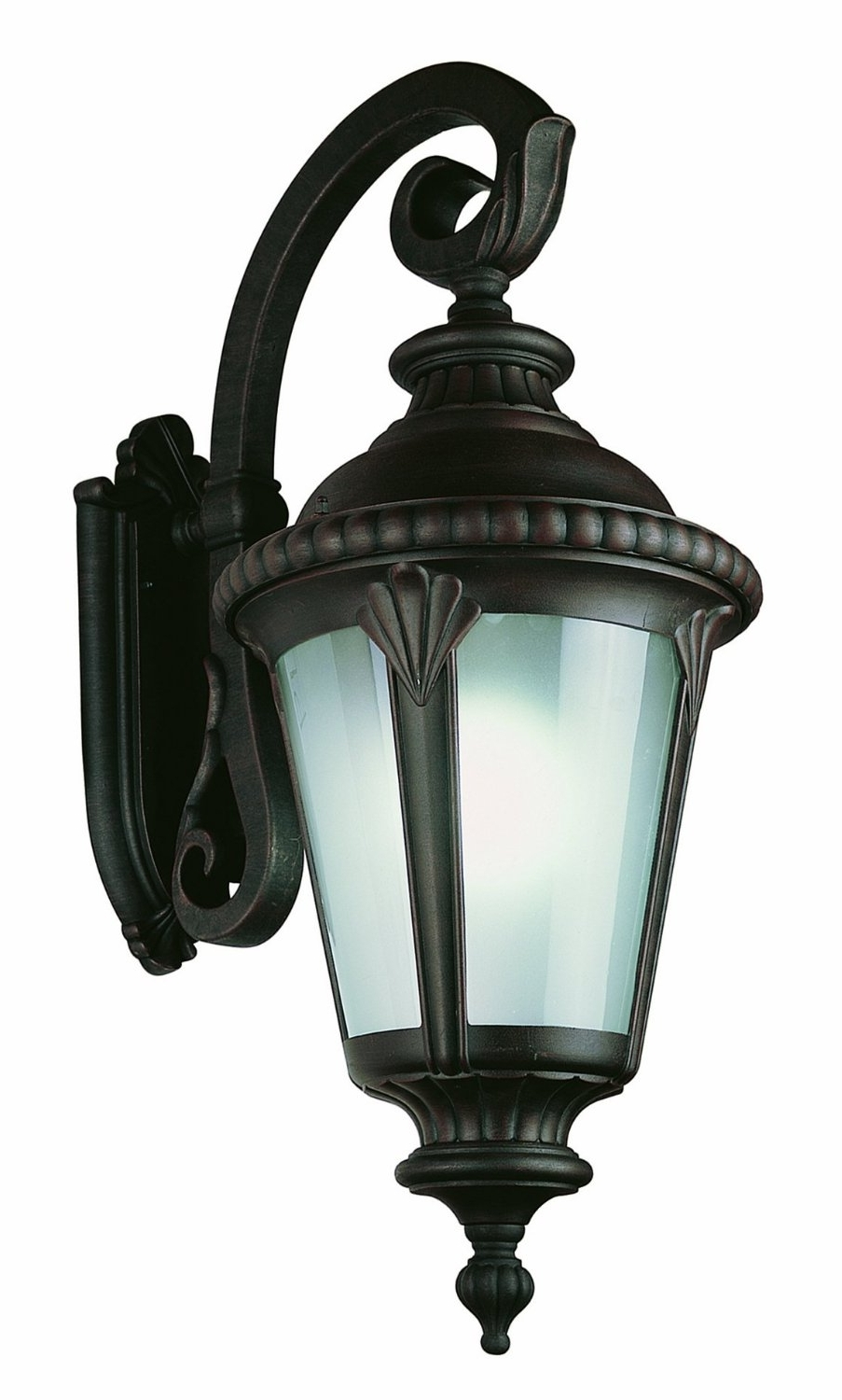 Most Recently Released Outdoor Wall Lantern By Transglobe Lighting Inside Lighting & Lamps: Trans Globe Lighting 4504 Bk 3 Light Post Lantern (View 10 of 20)