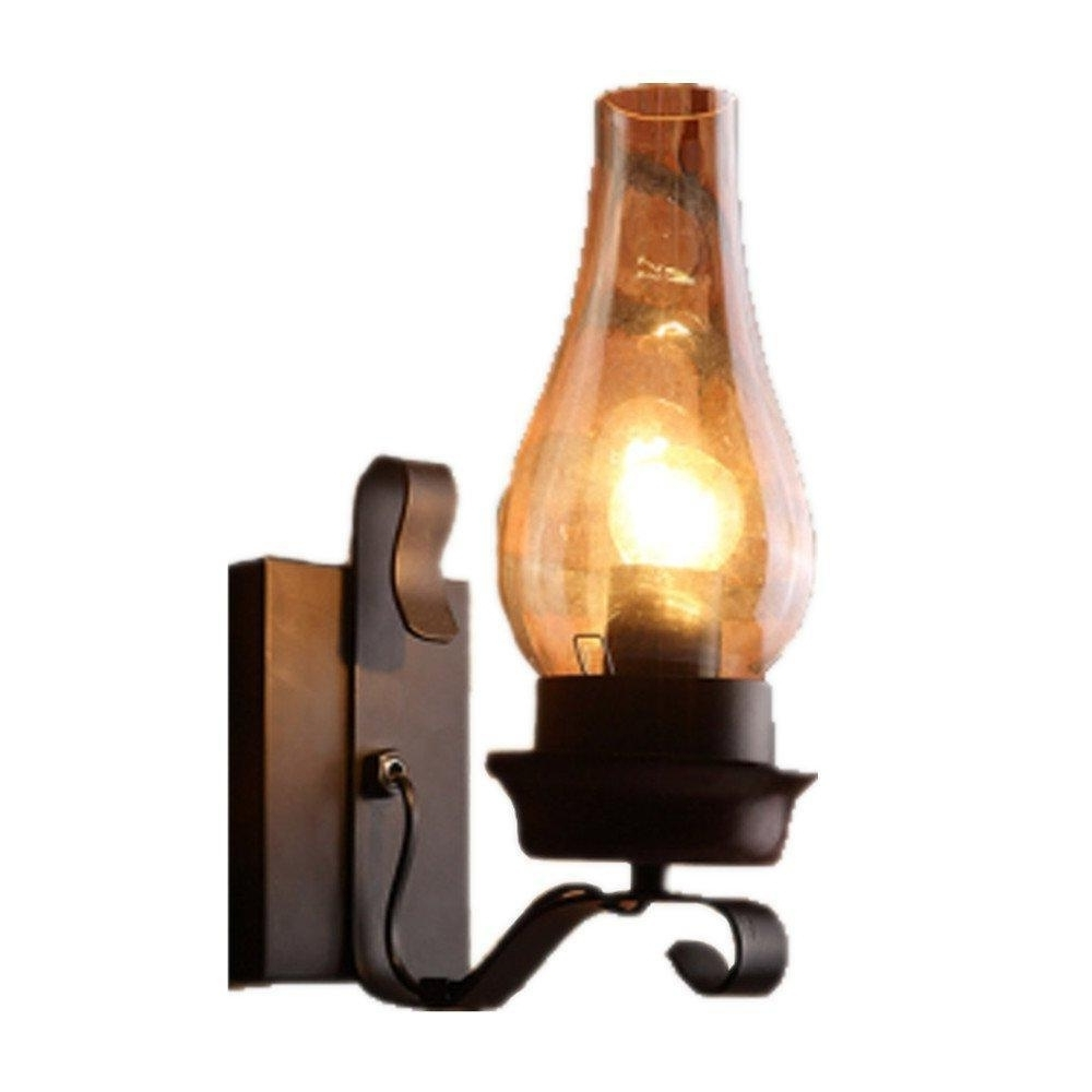 Most Recently Released Retro Rustic Nordic Style Glass Wall Sconce Vintage Wall Light Within Vintage And Rustic Outdoor Lighting (View 10 of 20)