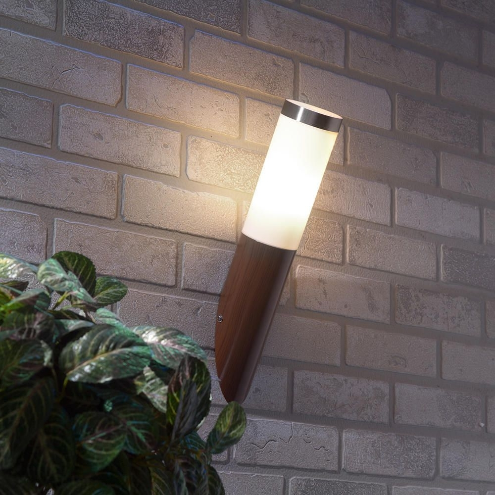 Most Recently Released Vinyl Outdoor Wall Lighting In Wood Vinyl Outdoor Wall Lighting : Outdoor Wall Lighting: Precious (View 3 of 20)