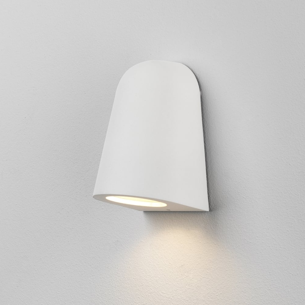 Most Up To Date Astro Lighting 7965 Mast Light Exterior Outdoor Wall Light In White With Outdoor Wall Lights In White (View 13 of 20)
