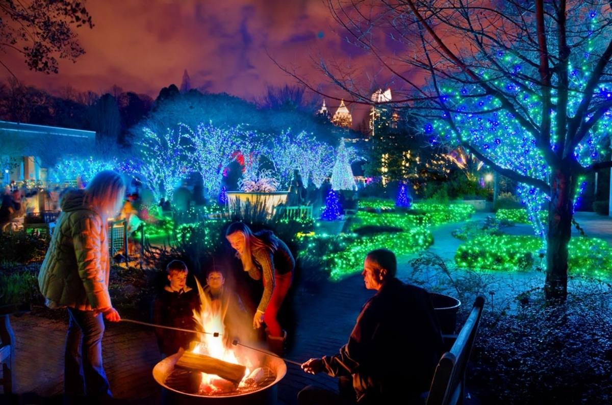 "Most Up To Date Atlanta Botanical Garden Shines ""Green"" This Winter With New Within Botanical Garden Lights (View 16 of 20)"