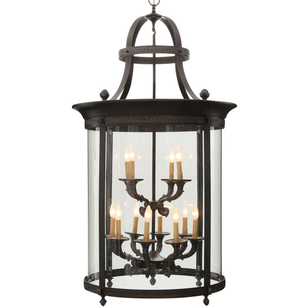Most Up To Date Electric Outdoor Hanging Lanterns Pertaining To World Imports Chatham Collection 12 Light French Bronze Outdoor (View 11 of 20)