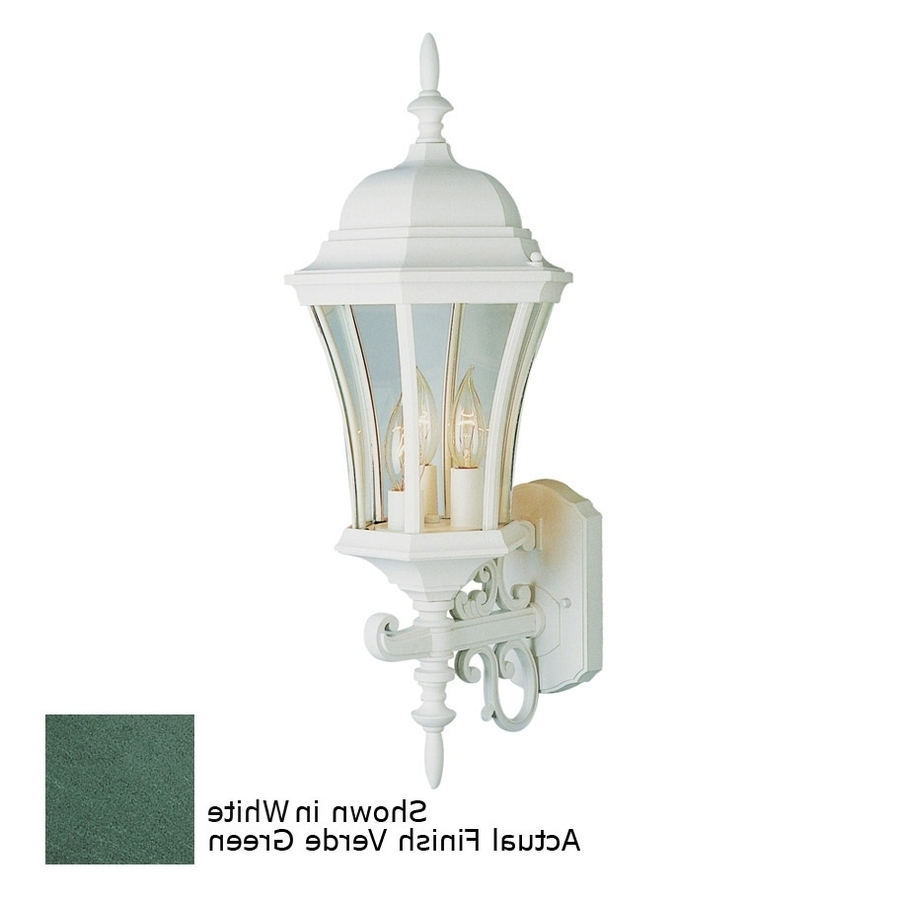 Most Up To Date Green Outdoor Wall Lights With Regard To Shop Bel Air Lighting Verde Green Outdoor Wall Light At Lowes (View 8 of 20)