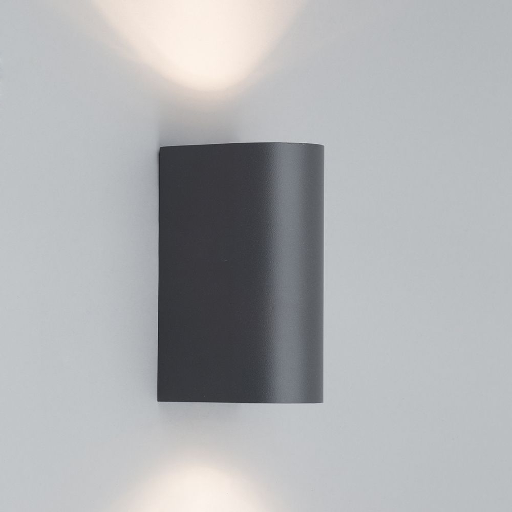 Most Up To Date Irwell Up & Down Light Outdoor Wall Light – Black From Litecraft™ Within Grey Outdoor Wall Lights (View 14 of 20)
